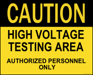 high voltage area